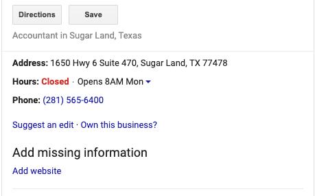 GMB Optimization - Sugar Land Texas