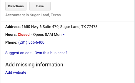 GMB Optimization - Sugar Land Texas
